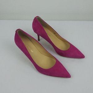 Ivanka Trump BONI Hot Pink Suede Pointed Toe Heels